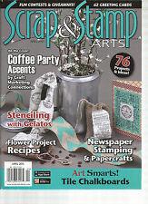 SCRAP & STAMP ARTS,  APRIL, 2015  ( NEWSPAPER STAMPING & PAPERCRAFTS )