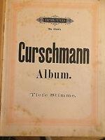 Fr. Curschmann : Curschmann-Album - Ausgabe für tiefe Stimme (gebunden)
