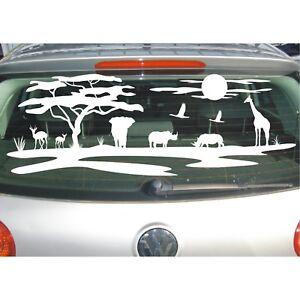 Aufkleber Landschaft  Tiere Afrika Affenbrotbaum Savanne Wüste Safari Sticker