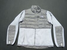 Womens The NORTH FACE White 550 Goose Down Denali Polartec Fleece Jacket Medium