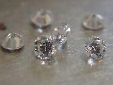 Lot de 6 Diamants Naturels Ronds 2.30mm - VVS/E - Magnifiques!!!