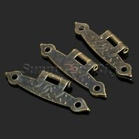 8Pcs Antique Brass Long Hinges for Cabinet Drawer Jewelry Box Alloy Hardware