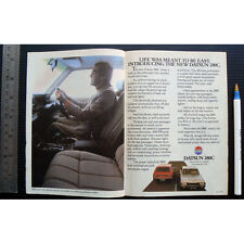 1978 vintage ad DATSUN 280C car advertisement sales advertising saloon wagon