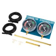 AlphaMoto 2 Vacuum Carburetor Synchronizer Carb Sync Gauge Cylinder Bike Tool