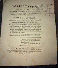 ETUDE DES SAISONS PAR LE MÉDECIN. 1808. MÉDECINE.