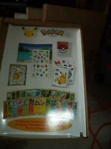 MCDONALD 25TH ANNIVERARY POKEMON STORE DISPLAY AND POSTER ABOUT 23X18X5