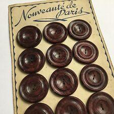 Lot 12 BOUTONS Anciens BAKELITE 1920 -1930 Art Deco Paris Antique Buttons
