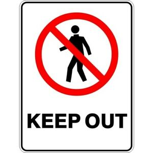 KEEP OUT - SELF ADHESIVE STICKER / DECAL / SIGN | HEALTH & SAFETY