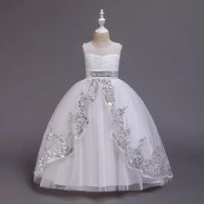 Kids Flower Princess Dress for Girls Party Graduation Wedding Bridesmaid Gown