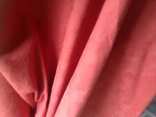 VINTAGE Tenda tessuto Sanderson TERRACOTTA Cotone di Qualità ITALIANA DAMASCATO 10 Mtr