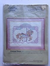 "Something Special CAROUSEL HORSE Counted Cross Stitch Kit 18""x14""/22""x18"" Matted"