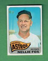 1965 TOPPS #485 NELLIE FOX HOUSTON ASTROS HALL OF FAME EX-MT+ CENTERED