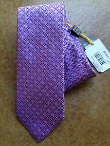 New Canali Men's 100% Silk Classic Neck Tie, Light Pastel Purple