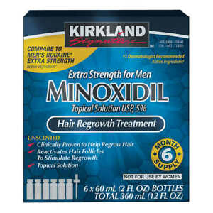 1-12 mons supply Kirkland Minoxidil5% Solution Hair/Beard Regrowth FREE SHIP!