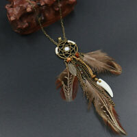 Dream Catcher Necklace Boho Dreamcatcher Pendant Friend Feather Necklace H