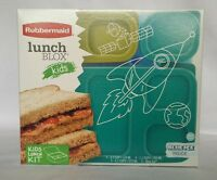 NEW Lunch Blox 1T65 Rubbermaid Kit Storage Set Food Kids Sandwich Containers