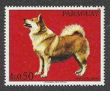 Dog Photo Body Portrait Postage Stamp ICELANDIC SHEEPDOG Paraguay 1986 MNH