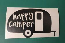 Happy Camper Caravan - Caravan/Camper/Car/Van/Bike/Window Vinyl Decal Sticker
