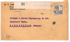 BF190 1920 DUTCH EAST INDIES Weltevreden GB Birmingham Cover CENSOR