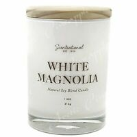 Scentsational Natural Soy Blend 11oz Wick Medium Candle - White Magnolia