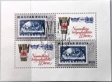 HUNGARY UNGARN 1965 Block 47 A S/S 1681 Austrian WIPA Stamp Exhb. on stamp SC