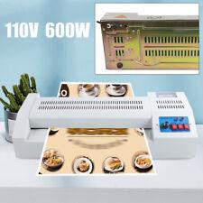 New Listinga4 Size Electric Hot Pouch Lamination Laminator Machine Sealing Film Photo 600w