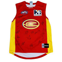 GC Suns Inagural AFL Signed Jersey Includes Ablett Men's Size Large Football