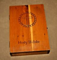 Vintage Steel Workers' Union 330 Issued White Holy Bible in Custom Wooden Box