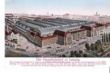 Ansichtskarte Leipzig - Hauptbahnhof Postkarte von 1927 mit Messestempel AK