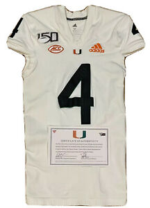 Miami Hurricanes Game Worn Special Edition Parley Game Used Jersey Thomas Hester