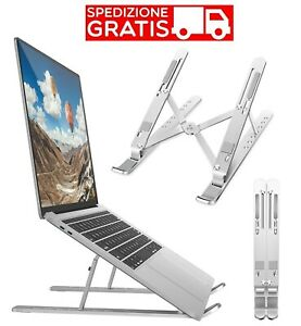 Easyness Supporto PC Portatile Laptop Stand con Sistema Antiscivolo e AntiGraffio Netbook e Computer Portatili tra 11 e 16.5 Alza Notebook per MacBook PRO Portata Max 15Kg