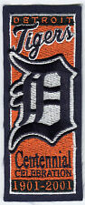 2001 DETROIT TIGERS 100TH YEAR MLB BASEBALL OFFICIAL COMMEMORATIVE TEAM PATCH