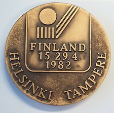 1982 Helsinki Tampere Finland World Ice Hockey Championships participant medal