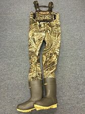 NEW 4mm Waterfowler MAX-5 Camo Neoprene Fishing/Hunting Chest Wader Lug Size 13