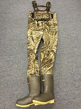 NEW 4mm Waterfowler MAX-5 Camo Neoprene Fishing/Hunting Chest Wader Lug Size 11