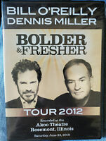 Bolder & Fresher - Bill O'Reilly & Dennis Miller Tour 2012 DVD New/Sealed