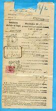 1914 LEONI c.10 ISOLATO ann.FIVIZZANO, 05.11.10 su RECLAMO delle POSTE  (271168)