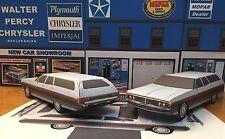 Papercraft 1972 Chrysler Town & Country Paper Car BLUE EZU-MakeIt Toy Model Car