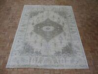 8'1 x 9'10 Hand Knotted Ivory Sultanabad Oushak Oriental Rug Ushak G8109