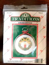 Traditions Counted Cross Stitch Kit Christmas Wreath #T8522
