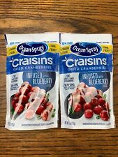 2pk - Ocean Spray Craisins Blueberry Dried Cranberries 6oz Bags