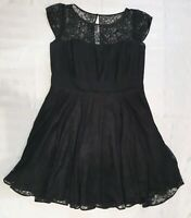 Black LACEY Evening Dress Ladies plus size 16-18 / S CITY CHIC