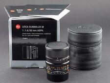 Leica M 50mm 1.4 asph. Summilux schwarz 6bit 11891 NEU FOTO-GÖRLITZ Ankauf