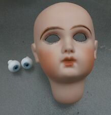 STUNNING Antique JUMEAU  Bisque FRENCH Doll HEAD Paper weight  EYES REPRODUCTION