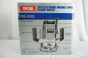 Ryobi 3HP Heavy Duty RE-600 Double Insulated Plunge Router
