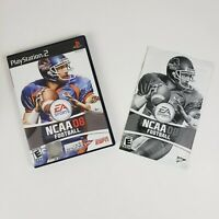 NCAA Football 08 (Sony PlayStation 2, 2007) PS2  Black Label CASE & MANUAL ONLY