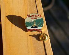 Alaskan Amber Alt Style Beer Gold Tone Metal & Enamel Lapel Pin Pinback