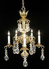 "Dollhouse Miniature Lighting Electrical CHANDELIER ""Amanda""  Artist Handcrafted"