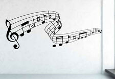 Musical Music Notes Lyrics Song Decal Wall Sticker Art. Various Colours and Size