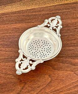 WEBSTER STERLING SILVER DOUBLE HANDLED TEA STRAINER NO MONOGRAM